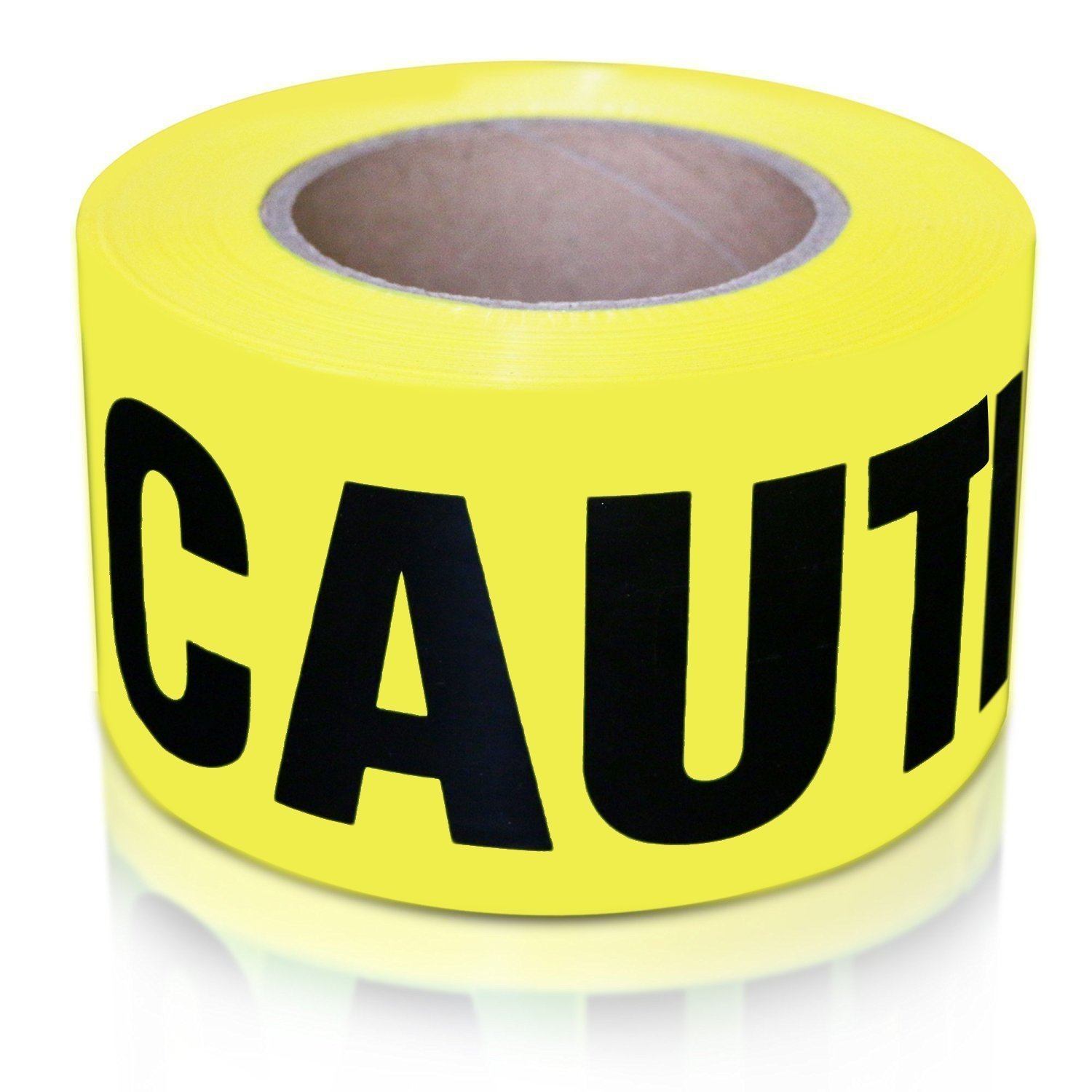 XFasten Caution Tape Roll, Non adhesive, 3-Inch x 1000-Foot Yellow Black Barricade Safety Tape- High Visibility for Workplace Safety