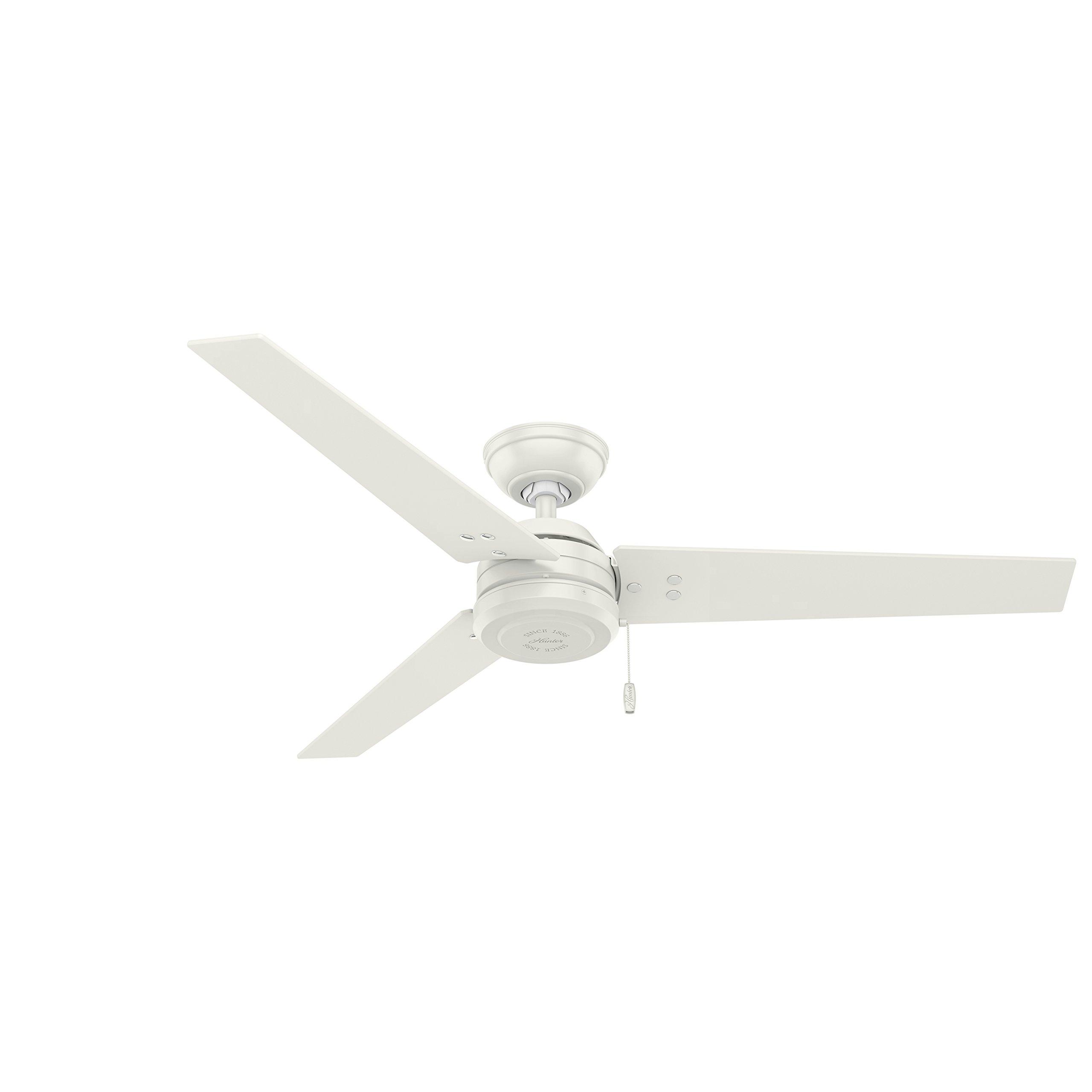 Hunter Fan Company 59263 Contemporary Cassius Fresh White Ceiling Fan, 52''