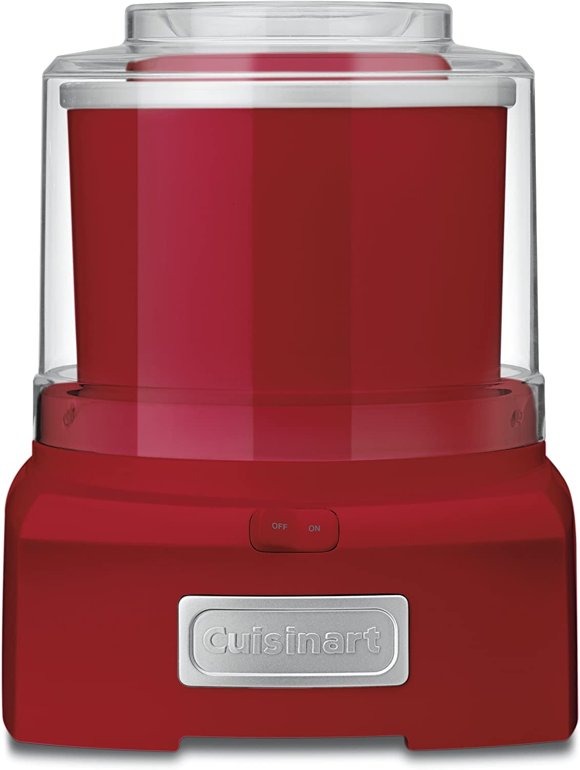 Cuisinart ICE-21RP1 ICE21R Frozen Yogurt Automatic Ice Cream and Sorbet Maker,120 V, Thermoplastic, 1-1/2 qt, Red