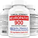 Neuropathy Support Supplement - Nerve Relief with 900 mg Alpha Lipoic Acid Daily Dose - Peripheral Neuropathy - Feet Hand Leg