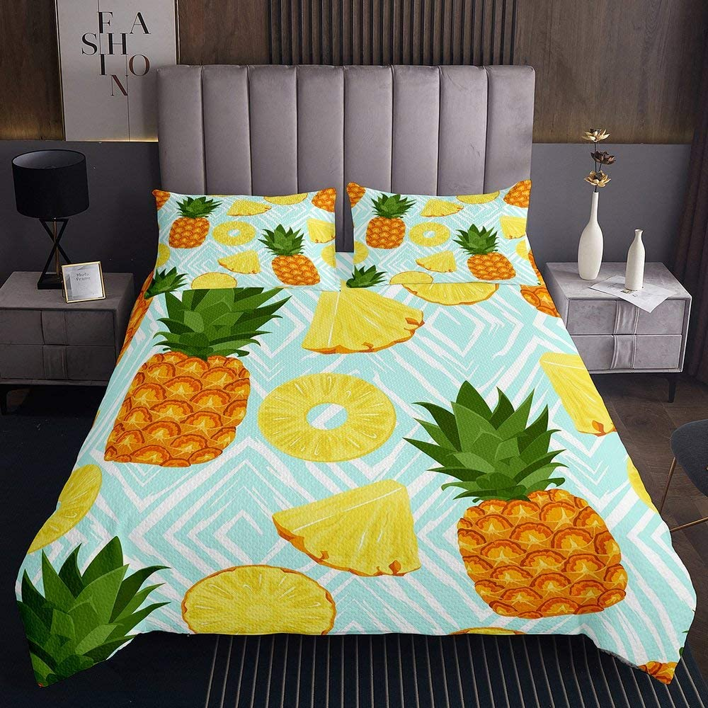 Pineapple Coverlet Set Queen Mint Fresh Comforter Fruit Green Co Limited Ranking TOP4 price sale