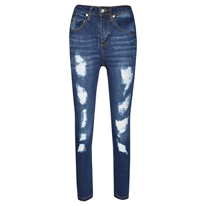 be1affbae7f9 Amazon.com: A2Z 4 Kids® Boys Stretchy Jeans Kids Ripped Denim Skinny Jeans  Pants Trousers Age 5-13 Years: Clothing