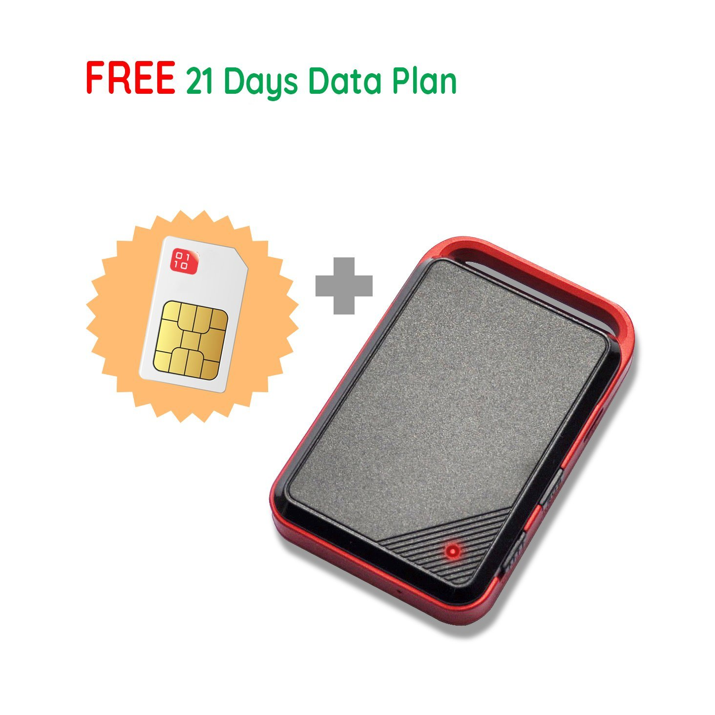 Canada Real Time Portable GPS Tracker, includes SIM card with data plan for tracking personal vehicle car Thinkrace (Canada)