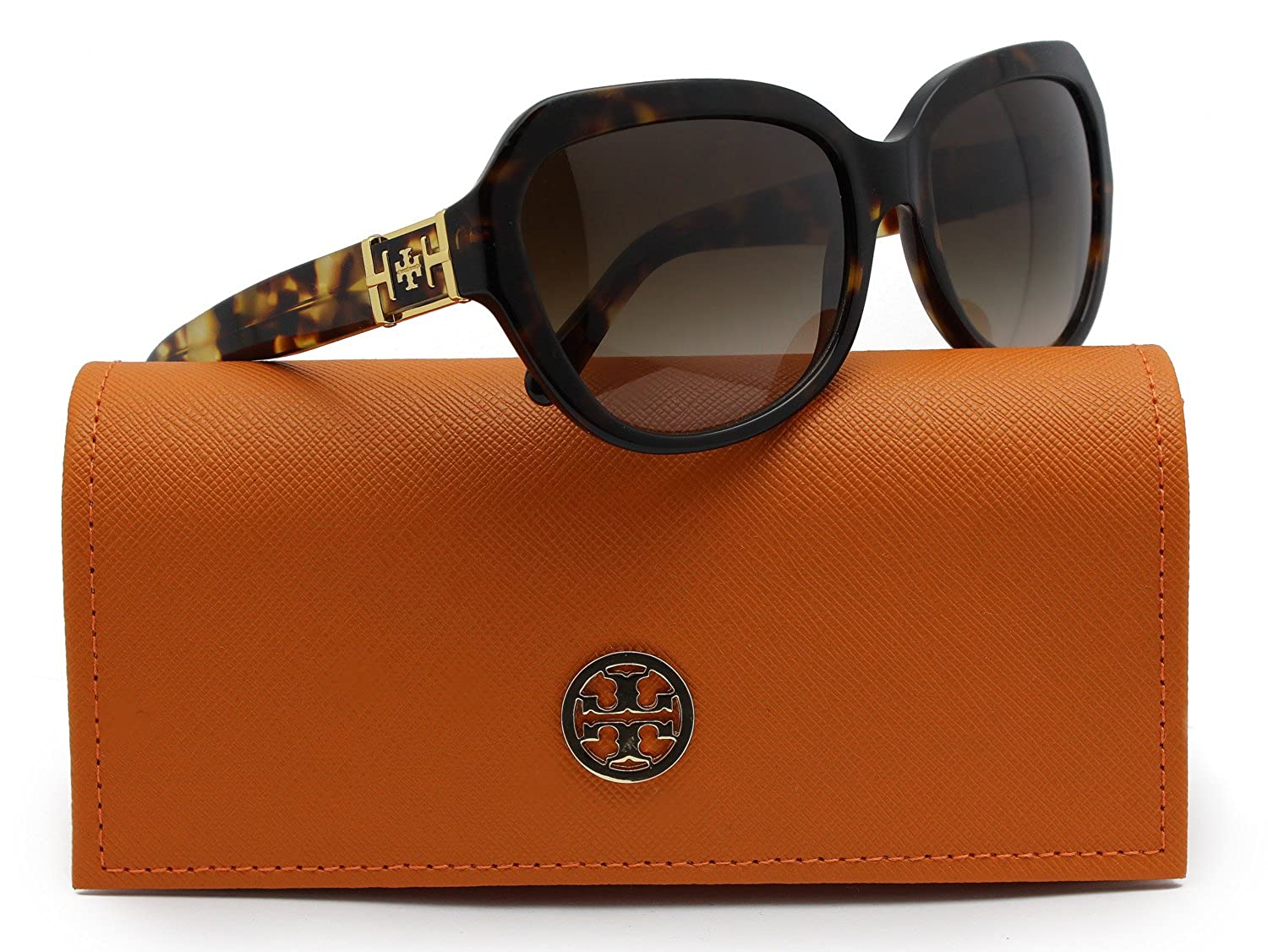 73d85476816 Amazon.com: TORY BURCH TY7071 Sunglasses Spotted Tortoise w/Brown Gradient  (1331/13) TY 7071 133113 58mm: Clothing