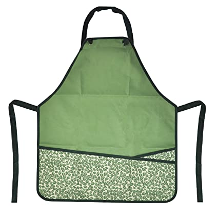 CERBIOR Garden Apron With Pockets Adjustable Neck And Waist Straps For  Women Gardening Carpentry Lawn Care