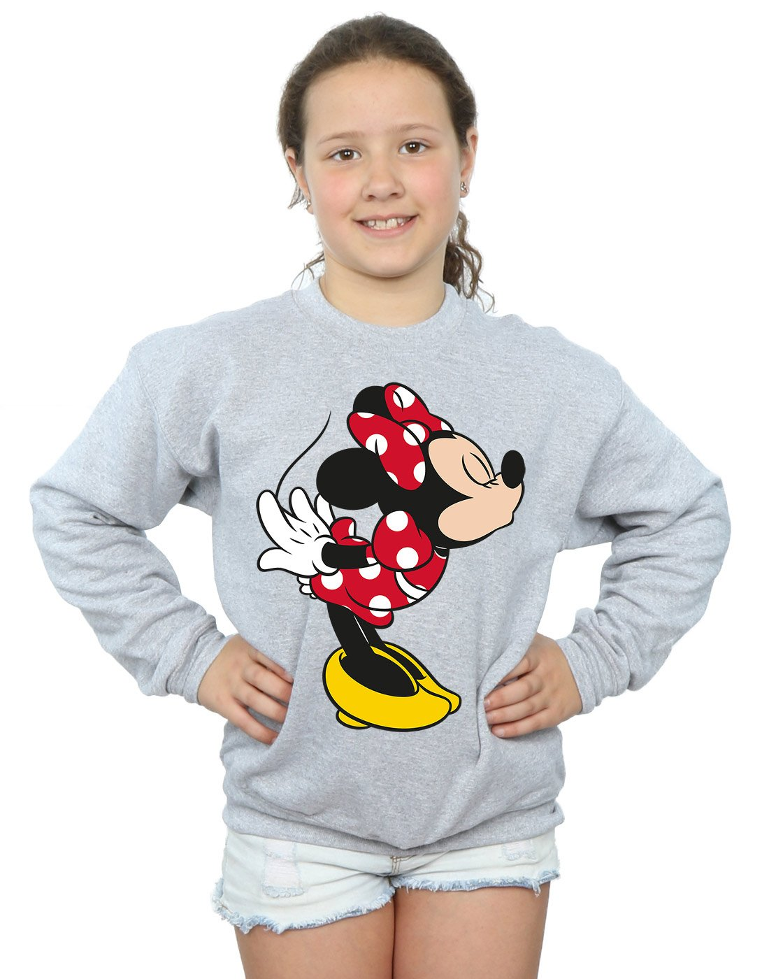 Disney Girls Minnie Mouse Split Kiss Sweatshirt Absolute Cult