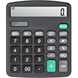 Calculator,Vilcome 12-Digit Solar Battery Office Calculator with Large LCD Display Big Sensitive Button, Dual Power Desktop C