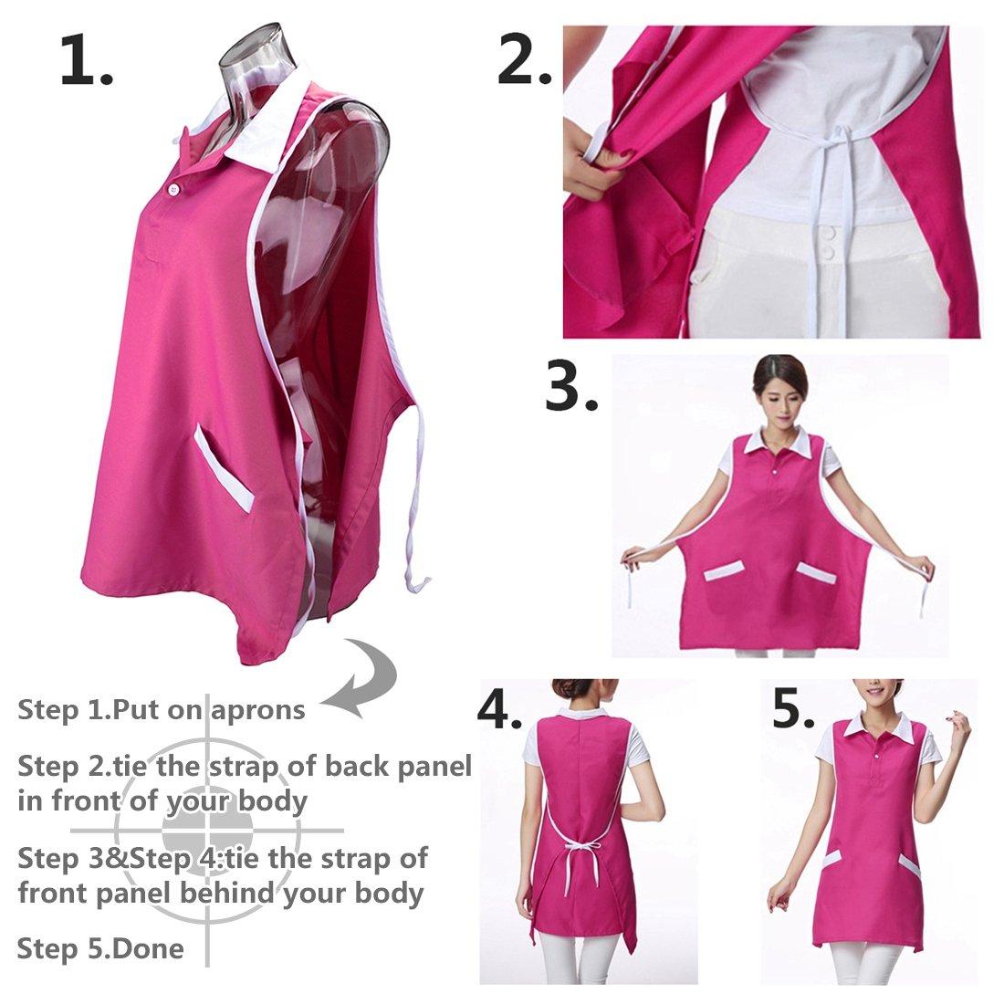 Amazoncom Neobang Women Sleeveless Workwear Apron With Pockets