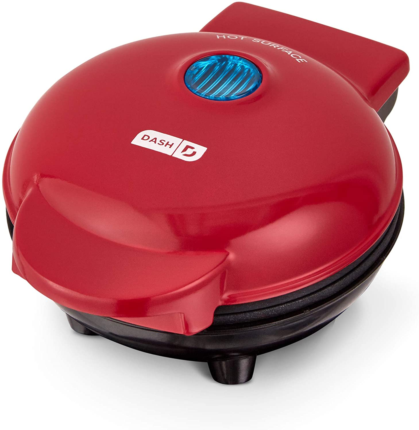Dash Mini Maker Portable Grill Machine + Panini Press for Gourmet Burgers, Sandwiches, Chicken + Other On the Go Breakfast, Lunch, or Snacks with Recipe Guide - Red