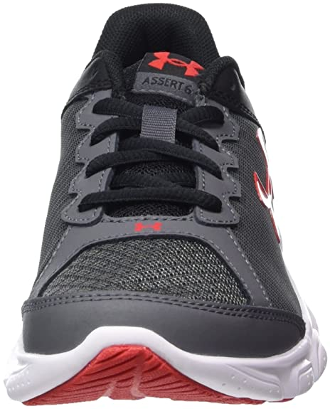 Under Armour Boys' Pre-School Assert 6 Running Shoes, Rhino Gray/Black, 1 M  US Little Kid: Amazon.com.au: Fashion