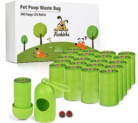 300Pcs Poop Bag Dog Waste Bags Earth-Friendly Compostable Disposal Leakproof
