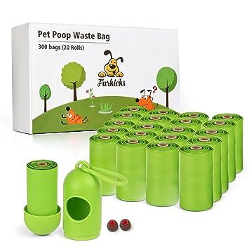 Amazon.com: furkicks 300 Counts caca bolsa, perro bolsas de ...
