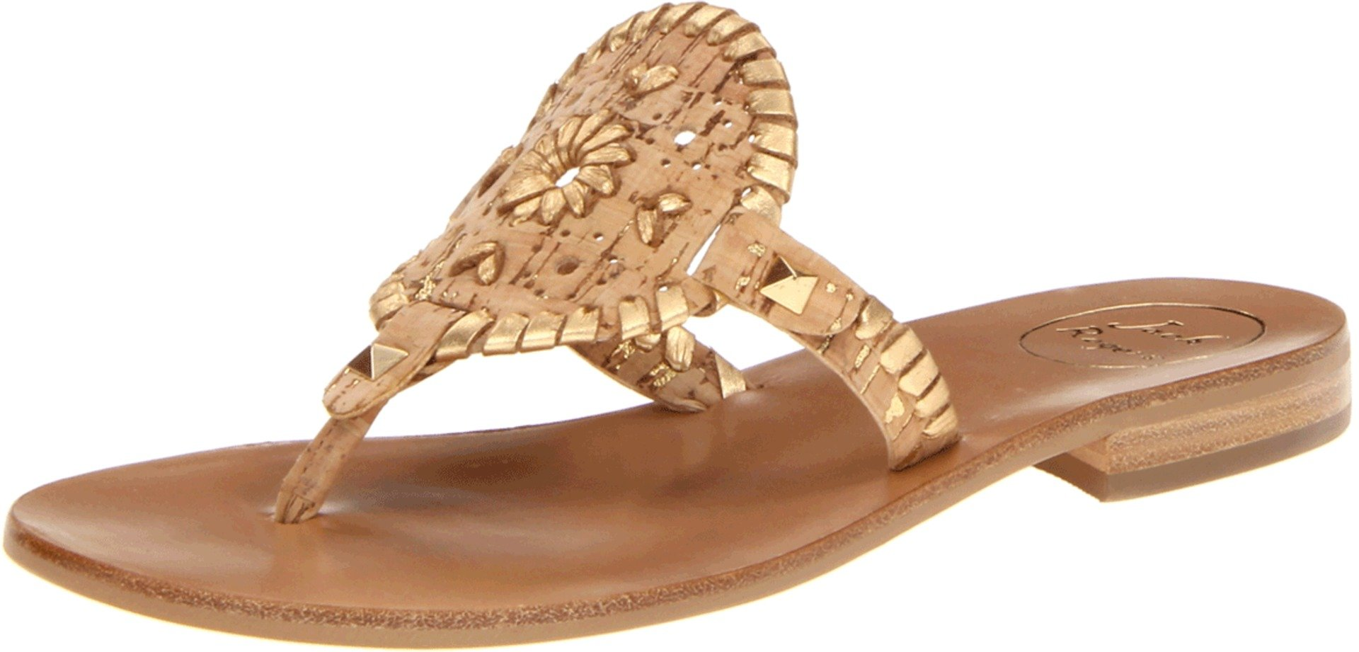 Jack Rogers Women's Georgica Sandal,Cork/Gold,5.5 M US by Jack Rogers