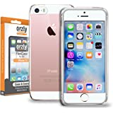 iPhone SE Case, Orzly® - FlexiCase for Apple iPhone SE (2016 Version) - Protective Flexible Silicon Gel Phone Case in 100% TRANSPARENT