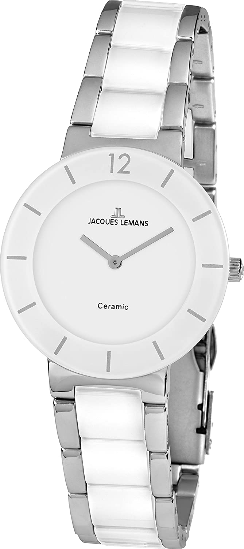 Jacques Lemans Unisex-Armbanduhr Analog Quarz Edelstahl 41-3B