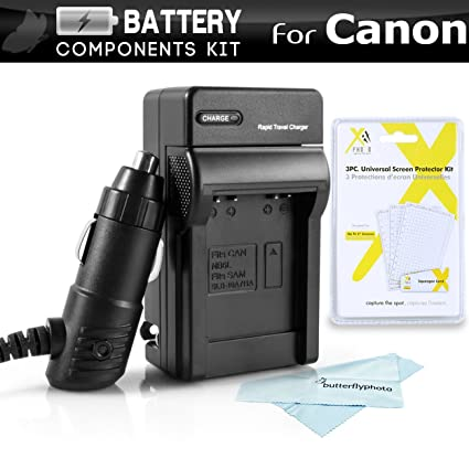 Battery Charger Kit For Canon Powershot ELPH 180, ELPH 190 IS, A2500, ELPH 150 IS, ELPH 170 IS, ELPH 160, SX400 IS, SX410 IS, SX420 IS, ELPH 340 HS, ...
