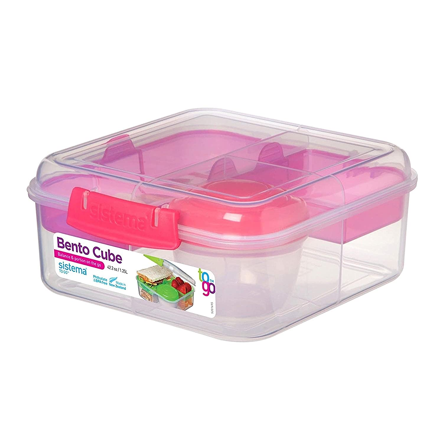 Sistema Lunch Collection Bento Box for Food Storage, Multicolor 1670