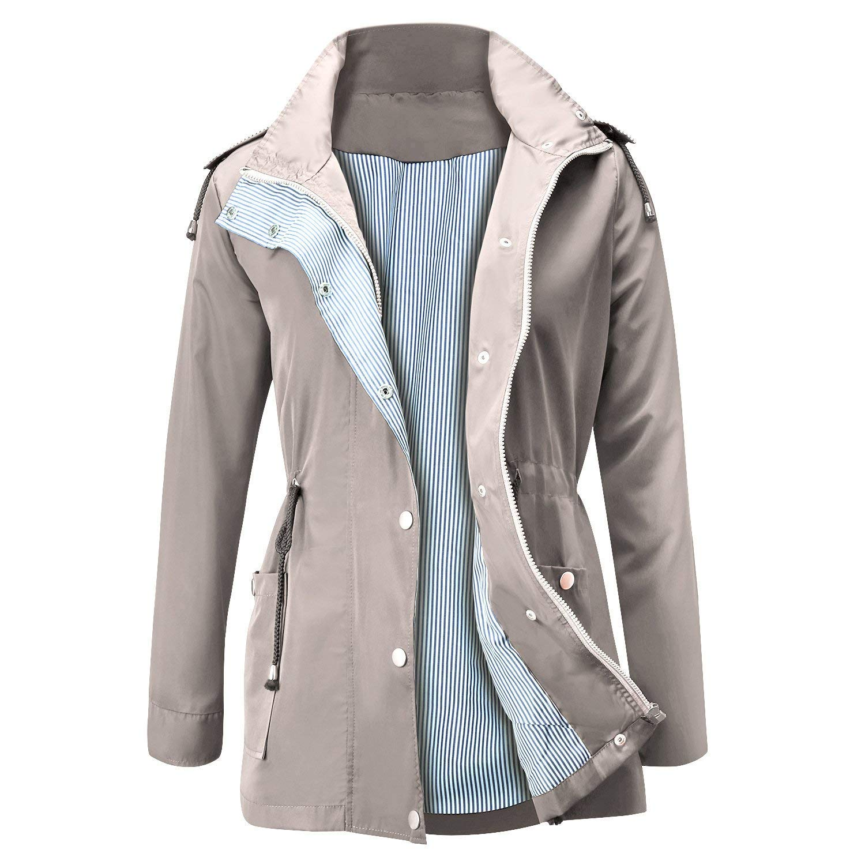 AidShunn Giacche Impermeabili da Donna Alpinismo Tuta Impermeabile La Neve Rainwear Giacca da Esterno Cappotti Invernali a Maniche Lunghe