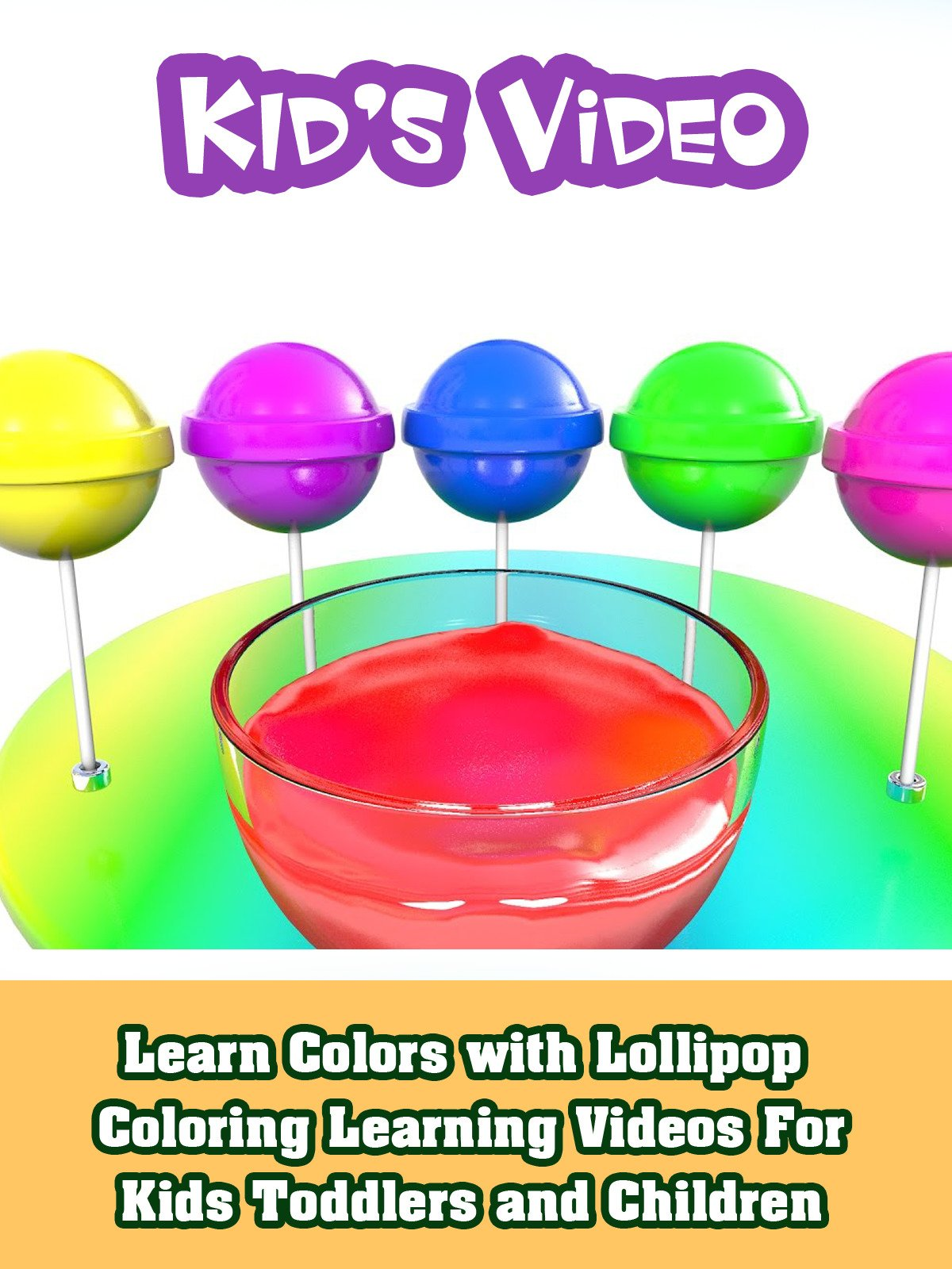 Amazon Learn Colors With Lollipop Coloring Learning Videos For Kids Toddlers And Children ABC Studio Alex