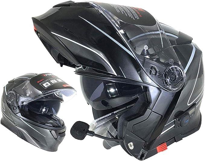 V271 Blinc Motorrad Bluetooth Helme Vcan Modular Flip Up Bluetooth Touring Helme Blitz Muster M Bekleidung