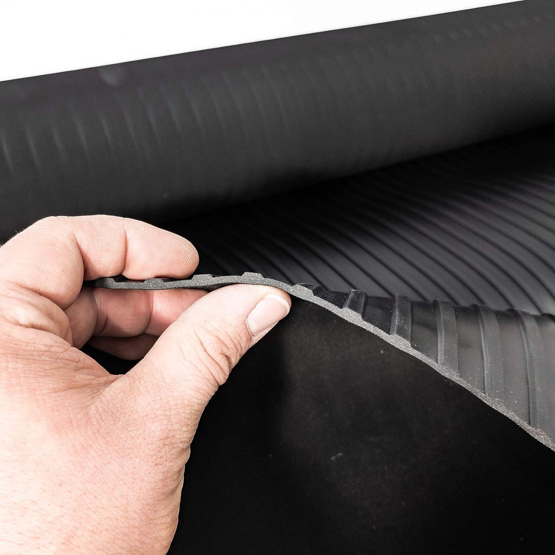 ANRO Gummimatte Schutzmatte Noppenmatte Bodenmatte Breitriefen Gummil/äufer 100cm Breit 3mm stark Schwarz 260 x 100cm