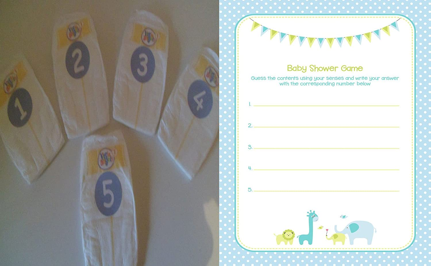 20 or 30 Players Baby Shower Games Dirty Nappy//Diaper Blue//Boy 10