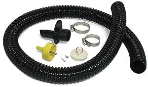 Algreen 81052 Rain Barrel Deluxe Diverter Kit Black