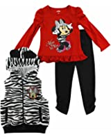 Disney Infant & Toddler Girls Diva Minnie Mouse Zebra Stripe Outfit