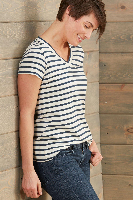 670c033d3 Fair Indigo Fair Trade Organic Relaxed Pocket V-neck Tee – THE ...