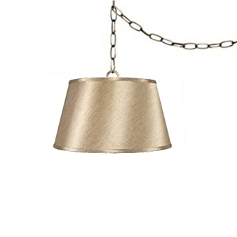 Upgradelights 19 inch tan swag lamp lighting fixture hanging plug in upgradelights 19 inch tan swag lamp lighting fixture hanging plug in sale ends soon aloadofball Gallery