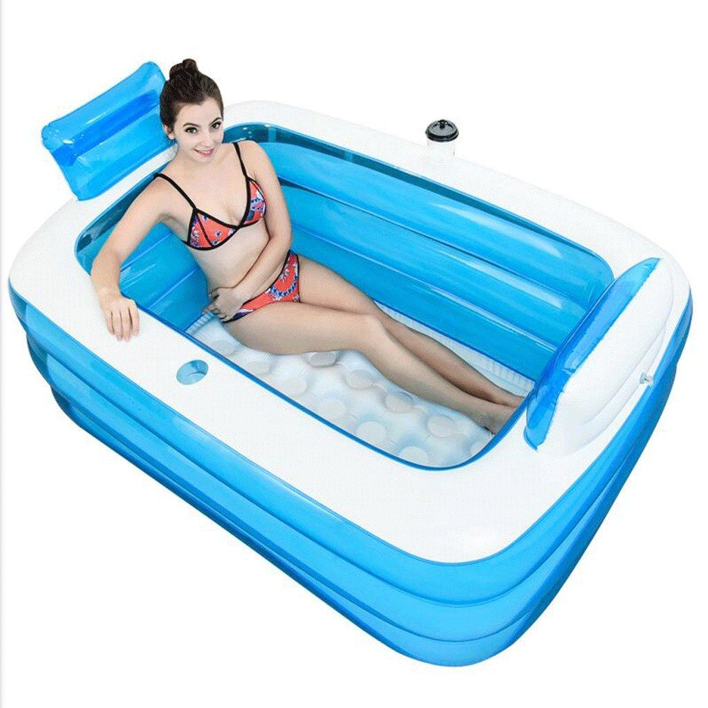 FHK,Folding bathtub Increase The Thickening Of The Adult Bath Bubble Plastic Bath Tub Inflatable bathtub,Bath barrel (1.6m)