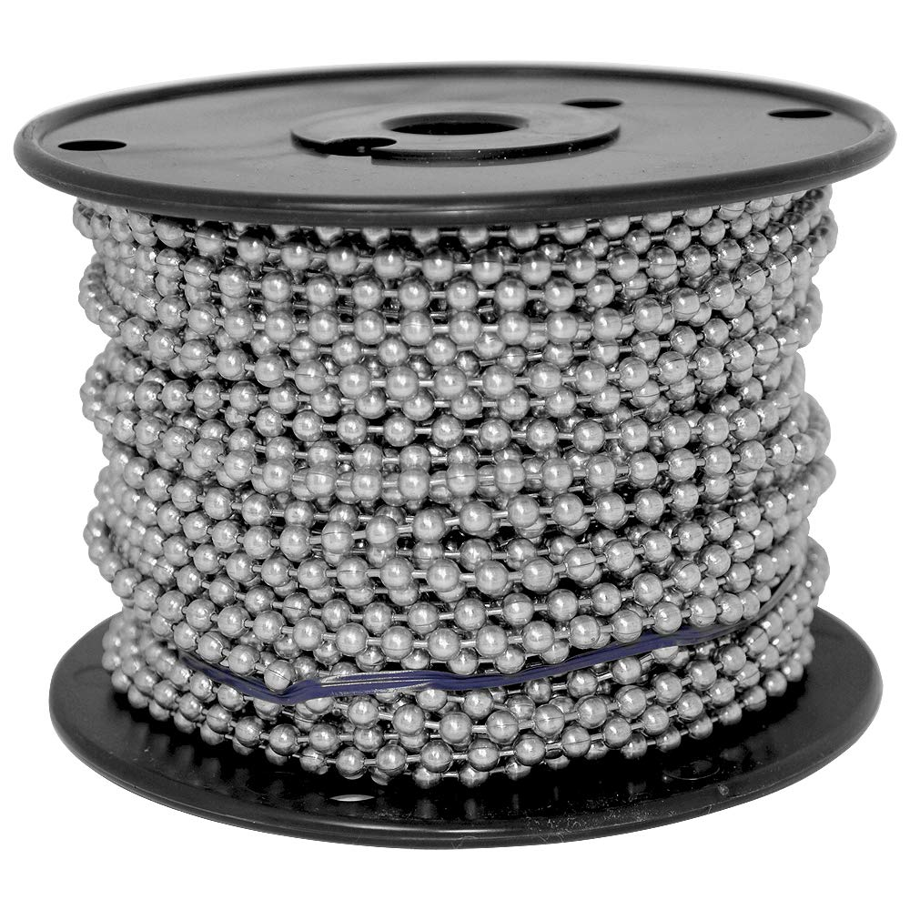 Ball Chain Number 10 Spool Stainless Steel 100 Feet