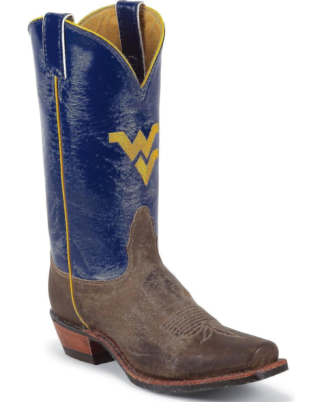 Nocona MDWV21 Mens West Virginia Blue/Tan Vintage Cowhide Branded College Boots