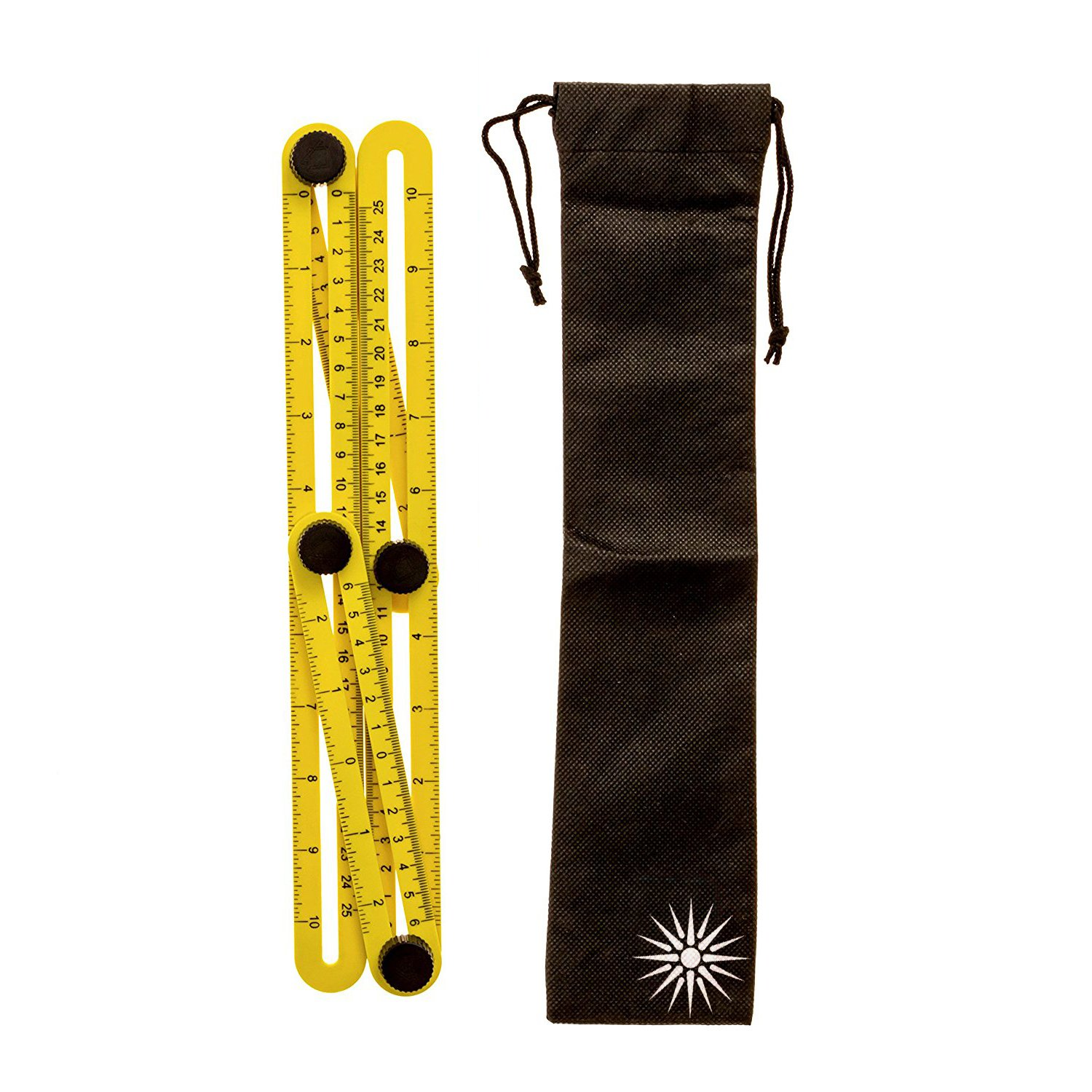 Multi-Angle Measuring Ruler | Free Storage Bag | Template Tool | Measures All Angles | Easy Angle Ruler | for Handymen | Builders | Craftsmen | Carpenters | Contractors | Masonry
