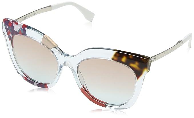 Fendi Damen Sonnenbrille FF 0179/S JJ Tdw, Blau (Cryblueptt Rot/Grey Sf), 53