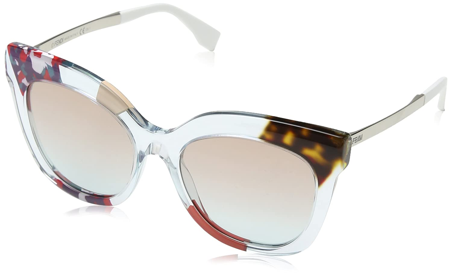 7b4271778871 Amazon.com  Sunglasses Fendi 179 S 0TKV Azure Crystal E6 brown azure lens   Shoes