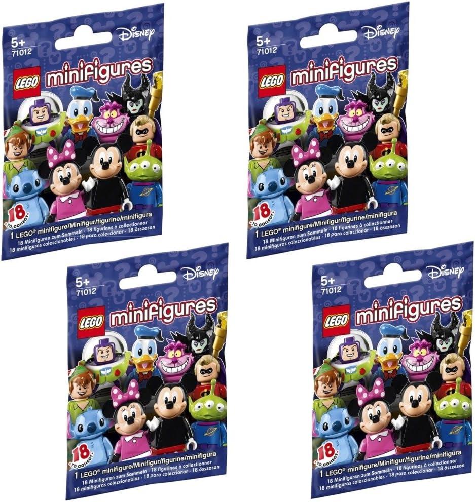 LEGO, Disney Minifigures, Bundle of 4 (71012) Styles May Vary