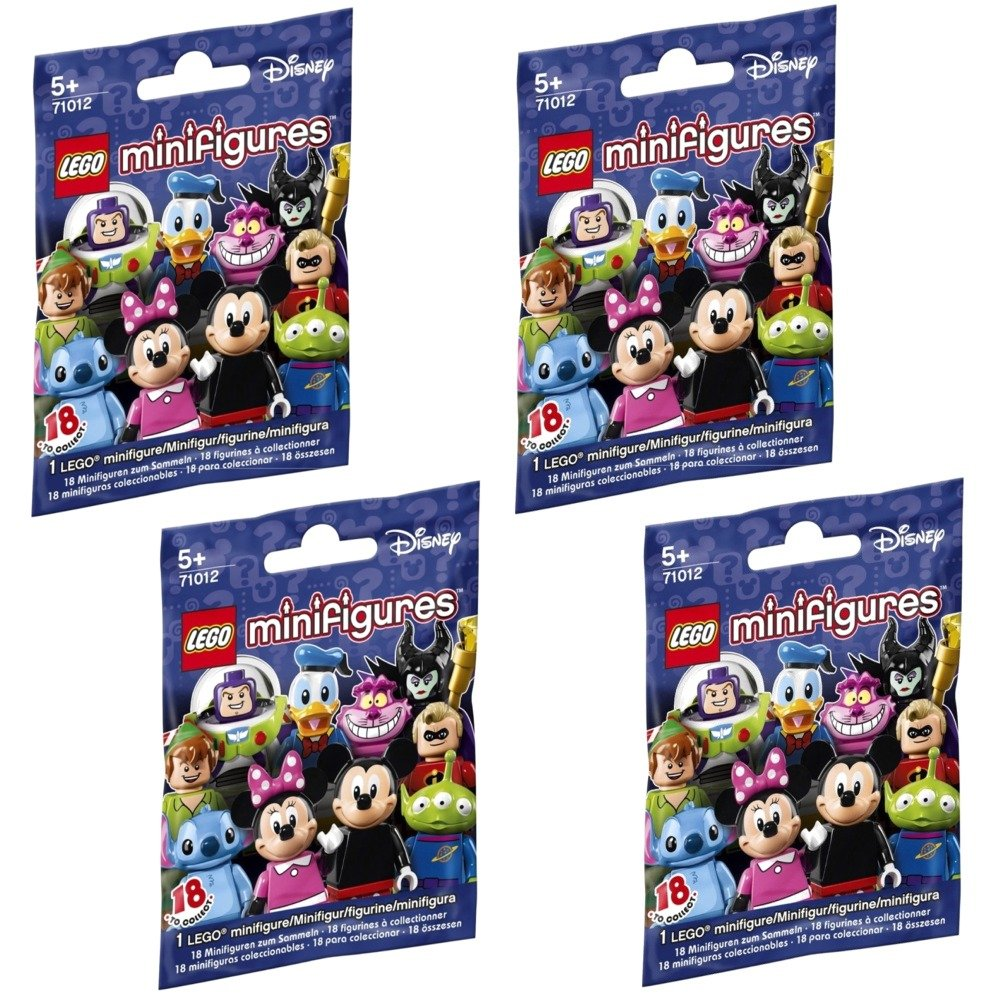 LEGO , Disney Minifigures, Bundle Set Of 4 (71012)