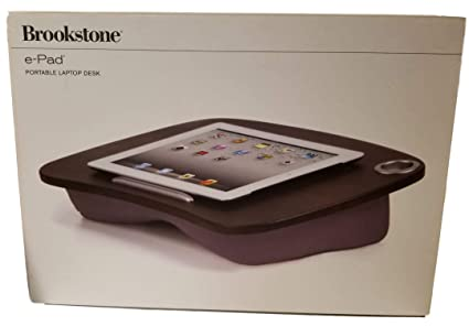 Brookstone E Pad Portable Lap Desk Pink For Notebook Ipad Tablet Pc