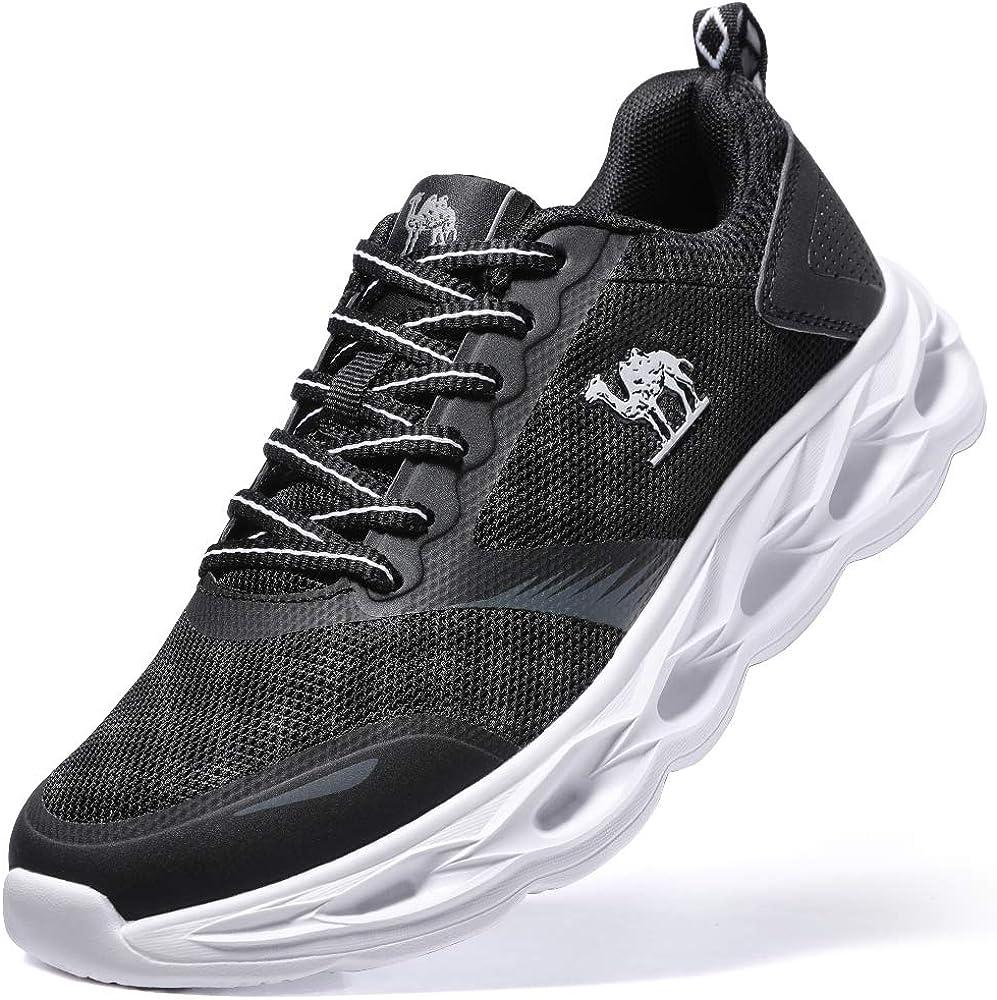 Zapatillas Deportivas de Mujer Cordones Respirable Zapatillas de Running Fitness a Prueba de Choques Sneakers Ligero Negro - Última Versión 4UK=37.5EU: Amazon.es: Zapatos y complementos