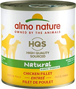 Almo Nature HQS Natural, Premium High Protein Grain Free Wet Dog Food 9.87 ounce /280 Grams (Pack of 12)