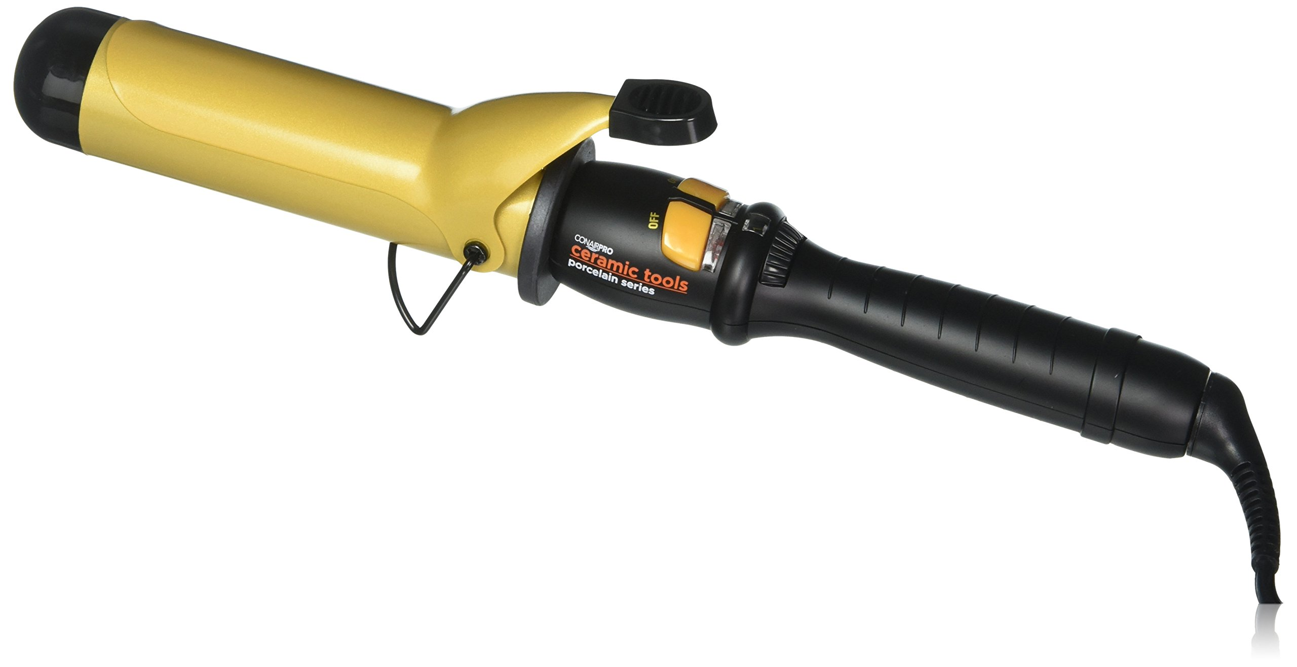 Conair Pro Ceramic Tools Porcelain Series Far-Infrared Spring Curling Iron, 1 1/2 Inch - 71wvXMbgDRL - Conair Pro Ceramic Tools Porcelain Series Far-Infrared Spring Curling Iron, 1 1/2 Inch