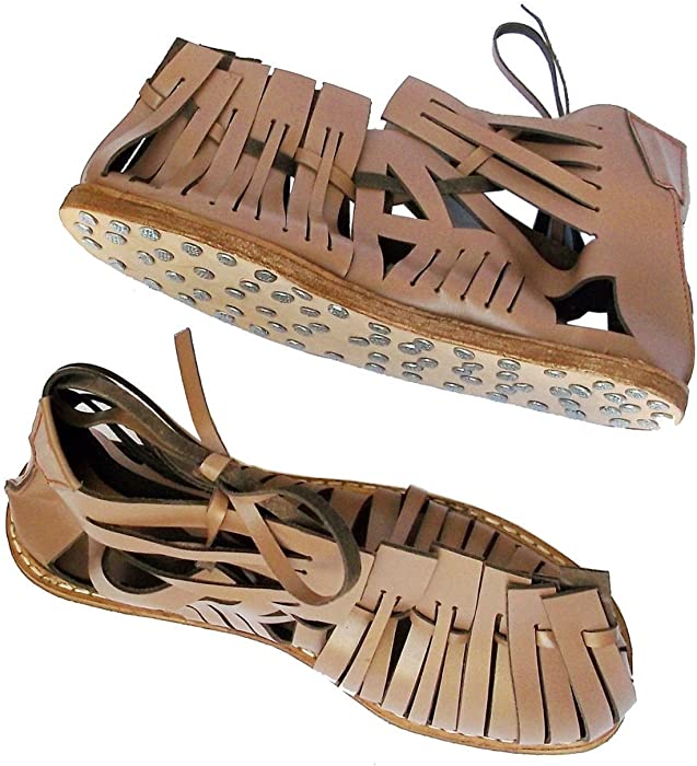 f137f127255e Amazon.com  SHREYAS Medieval Roman Leather Caligae Viking Sandals ...