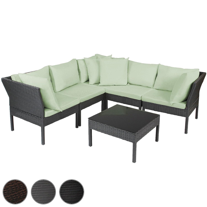 polyrattan ecksofa gartensofa polyrattansofa in drei verschiedenen farben inkl zierkissen und. Black Bedroom Furniture Sets. Home Design Ideas