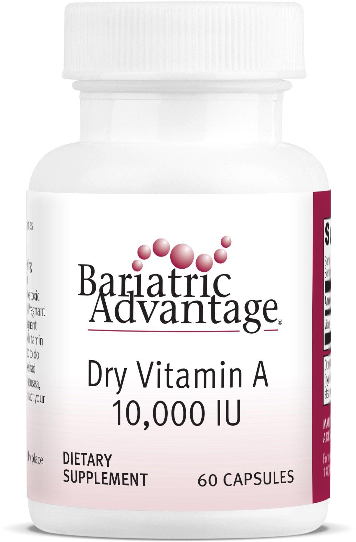 Bariatric Advantage - Dry Vitamin A Capsules, 60 Count by Bariatric Advantage