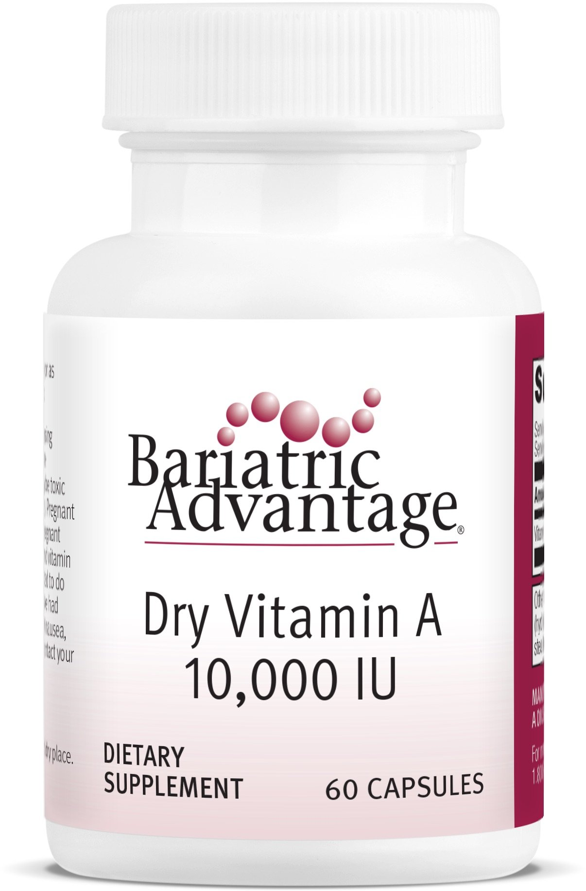 Bariatric Advantage - Dry Vitamin A Capsules, 60 Count