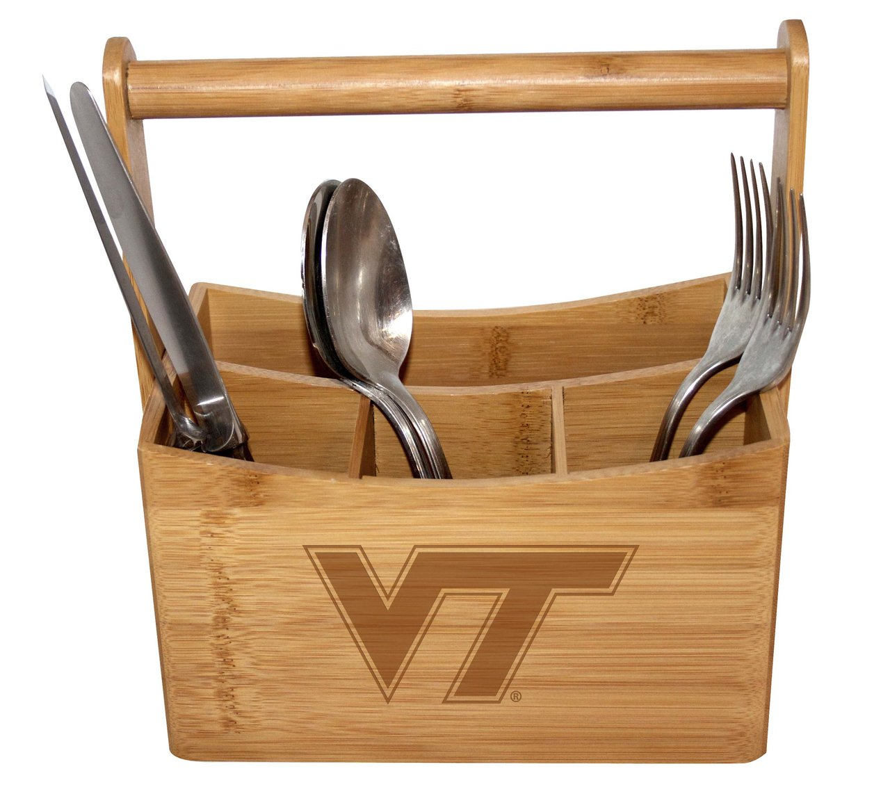 Virginia Tech Bamboo Caddy