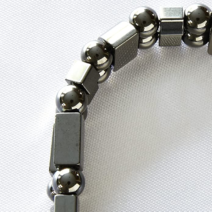 Happy and Healthy Boxcar Magnetite Magnetic Anklet Triple Strand Black
