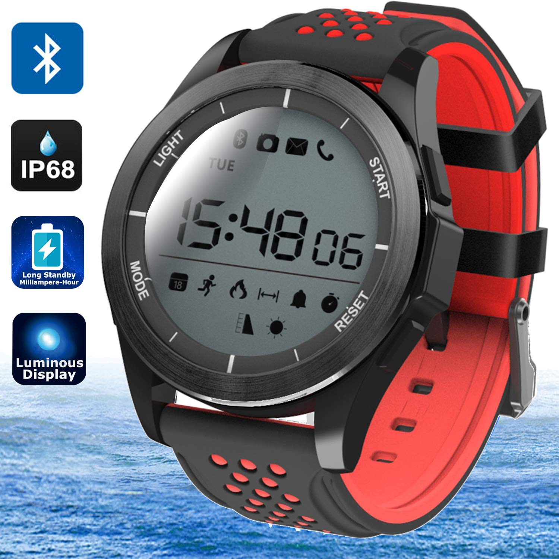 MarMoon IP68 Waterproof Smartwatch Fitness Tracker Watch with Pedometer Calories Sedentary Remind Sleep Monitor Outdoor Sport Watch for Men Women ...