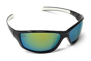 782bff494add LAGO TERRA Men s Sportive Polarized Mirror Lens Sunglasses - Black White